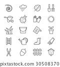 Garden Icons Line 30508370