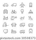 Transportation Icons Line 30508373