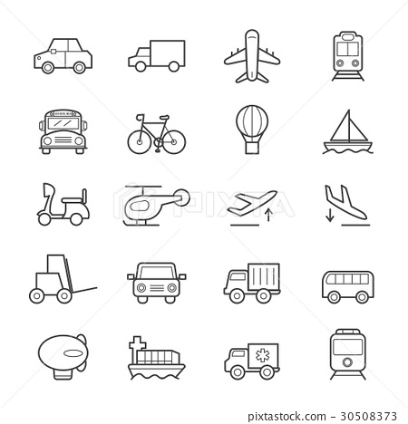 Transportation Icons Line 30508373