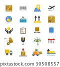 Logistics Flat Icons color 30508557