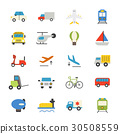 Transportation Flat Icons color 30508559