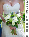 Bride Holding Wedding Bouquet 30508813