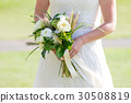 Bride Holding Wedding Bouquet 30508819
