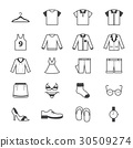 Cloth and Accessory Icons Line 30509274