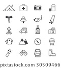 Camping Icons Line 30509466