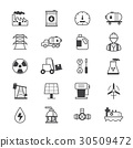 Oil and Industy Icons Line 30509472