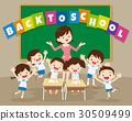 back to school with teacher and pupil 30509499
