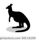 silhouette, animal, black 30510200