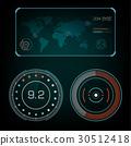 雷达 屏幕 矢量 30512418