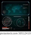 雷达 屏幕 矢量 30512419