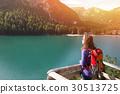 lake, woman, tourist 30513725