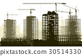 Construction site with crane and building. 30514330