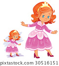 Vector clip art illustration with young girl in 30516151