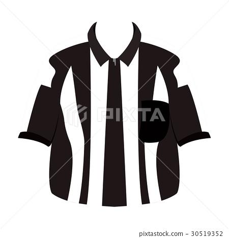 Isolated referee shirt 30519352