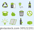 Recycling nature icons waste sorting environment 30522201