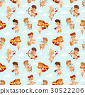 Valentine Day cupid angels cartoon style vector 30522206