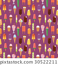 fruit ice cream seamless pattern background vector 30522211