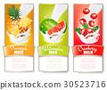 milk, vector, label 30523716