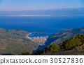 이즈 스카이 라인에서 바라본 바다와 토다 마을 30527836