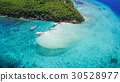 Aerial view of sandy beach beautiful clear sea. 30528977
