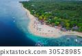 Aerial view of sandy beach beautiful clear sea. 30528985