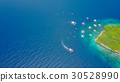 Aerial view of sandy beach beautiful clear sea. 30528990