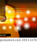 abstract background with acoustic guitar 30531478