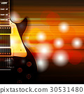 background electric guitar 30531480