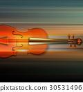 violin music abstract 30531496