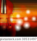 violin music abstract 30531497