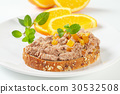 bread with meat spread 30532508