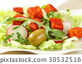 vegetable salad with cheese 30532516