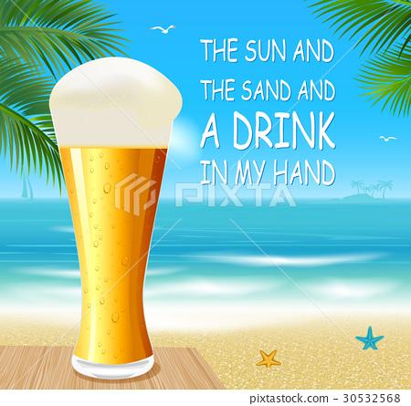 Beer on a beach 30532568