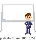 Office employee White board male whole body 30532756