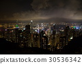 hongkong, hong kong, night scape 30536342