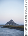 mont st michel, france, morning glow 30536354