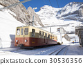 winter mountain, switzerland, rail 30536356