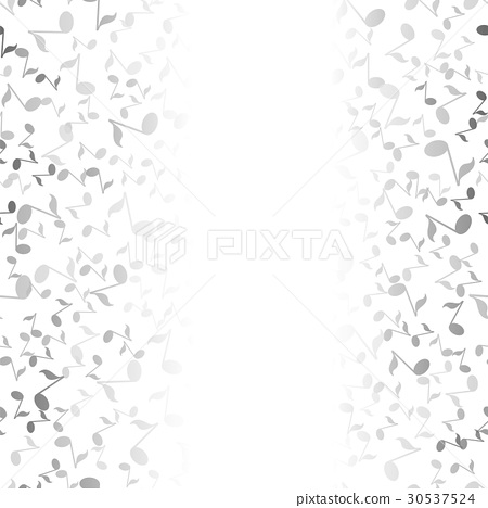 Grey Musical Notes Pattern 30537524