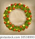 Christmas wreath vector 30538993
