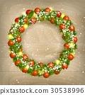 Christmas wreath vector 30538996