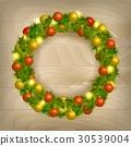 Christmas wreath vector 30539004
