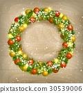 Christmas wreath vector 30539006