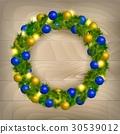 Christmas wreath vector 30539012