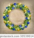 Christmas wreath vector 30539014