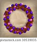 Christmas wreath vector 30539035