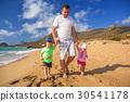 beach, twins, father 30541178
