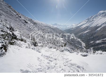 Landscape in Annapurna circuit,trekking in Nepal 30541672