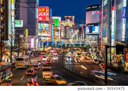 """""""東京都""""新宿的夜景 30543475"""