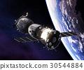 Russian Spacecraft Orbiting Earth 30544884