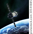 Russian Spacecraft In Outer Space 30544885